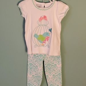 Mud Pie Matching Top and Pants Set